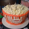 Popcorn Cake for a Movie Party or Red Carpet Party