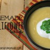 Creamy Homemade Cauliflower Soup Recipe