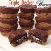 Decadent Triple Decker Chocolate Brownies Recipe