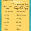 Easy Sugar Conversion to Honey Chart