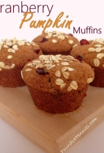 Cranberry Pumpkin Muffins Recipe {Just in time for Fall}