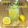 Homemade Ginger Lemonade Drink Recipe