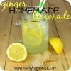 Homemade Ginger Lemonade Drink Recipe