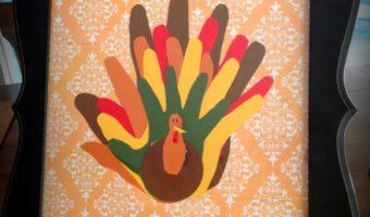 Thanksgiving turkey family hand craft
