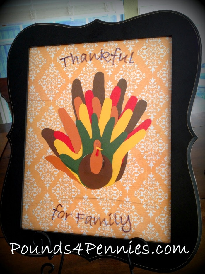 Thanksgiving turkey family hand craft