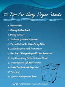 12 Tips for Using Dryer Sheets: Purex Fabric Softener Sheets Giveaway – OVER