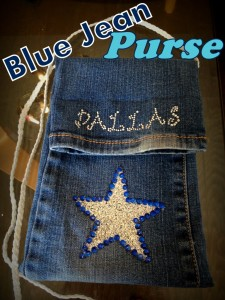 Upcycled Blue Jean Purse {Pocket Purse}