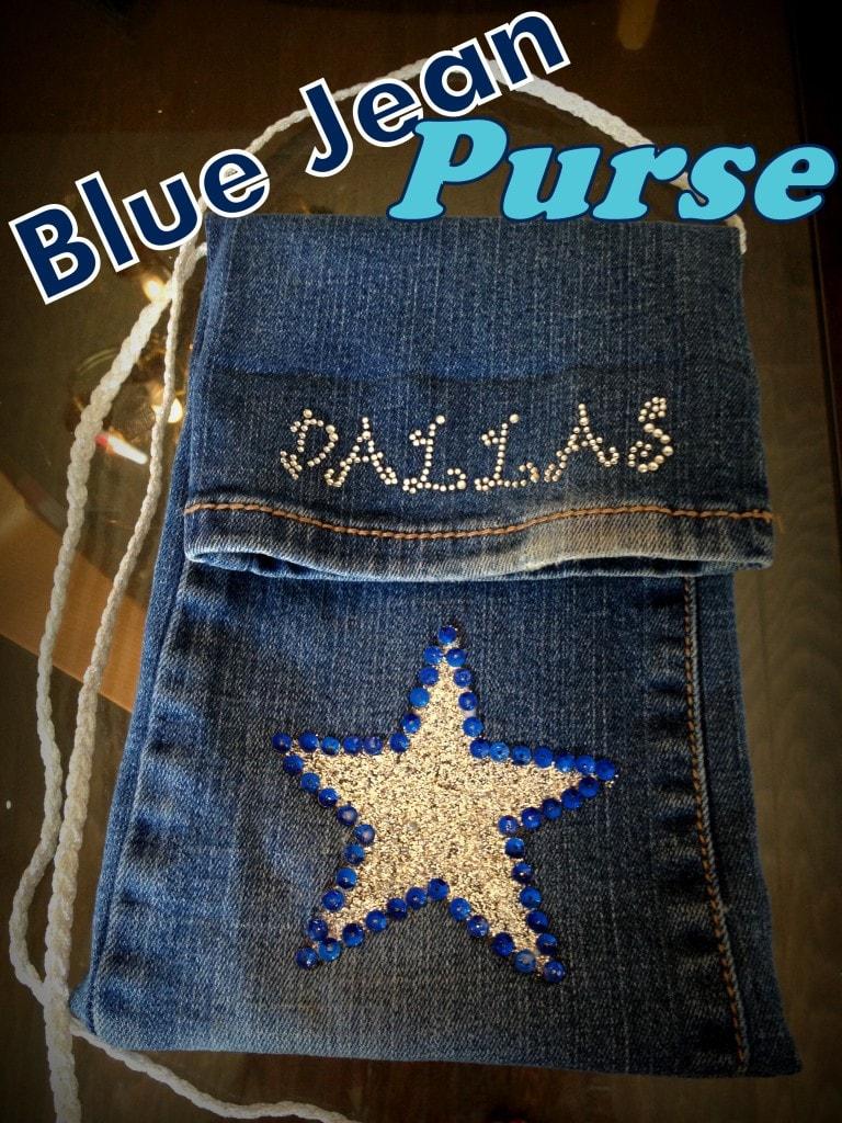 How To Make An Upcycled Blue Jean Purse Pocket Purse