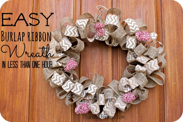 How to make a burlap wreath with wire for What to make with burlap