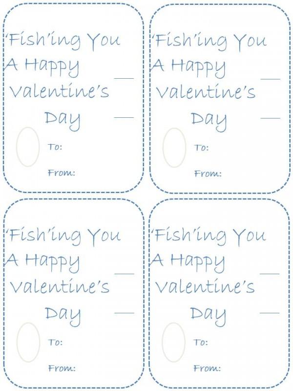 Homemade fish valentines