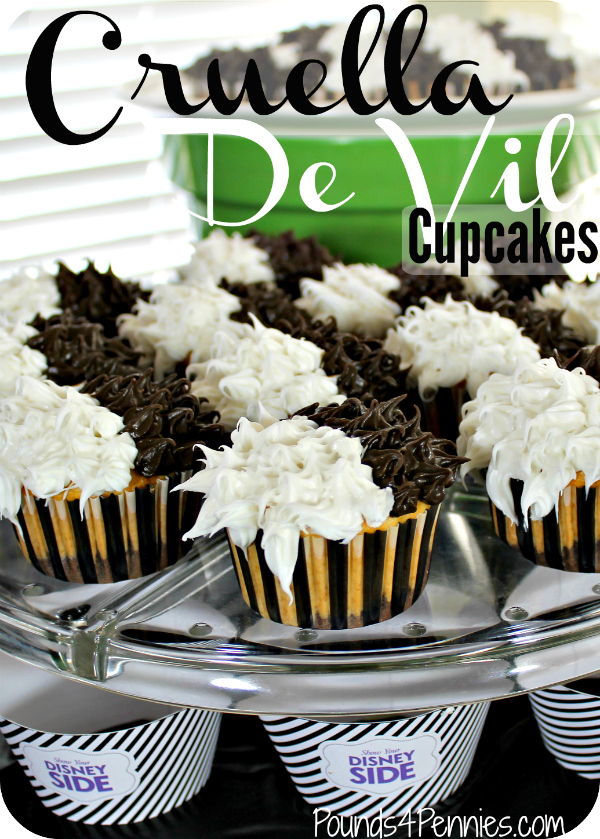 Cruella De Vil Cupcakes Party
