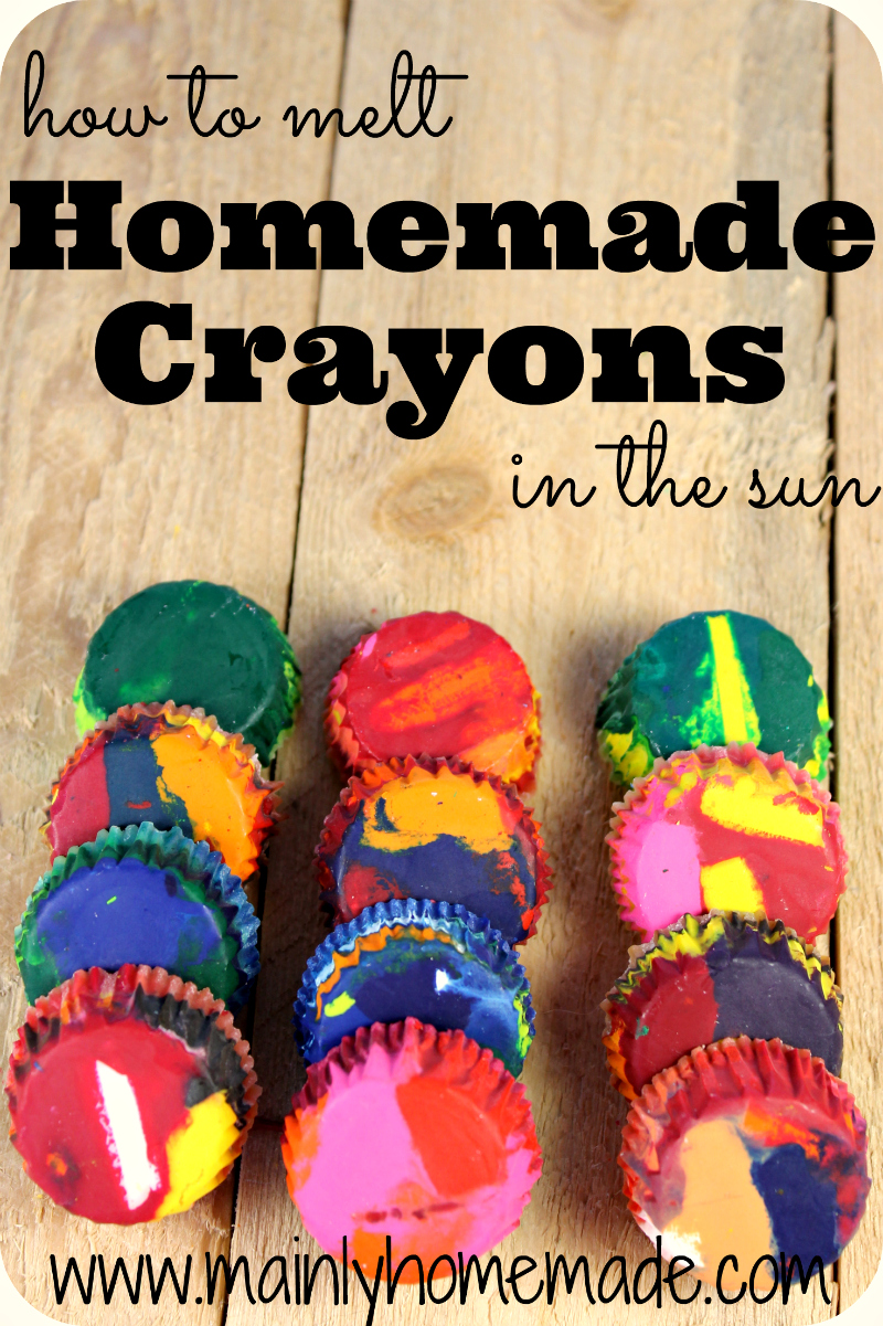 Homemade Crayons by Mainly Homemade - Fun Summer Activities for Kids