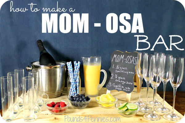 how to make a mimosa Bar for Girls night in