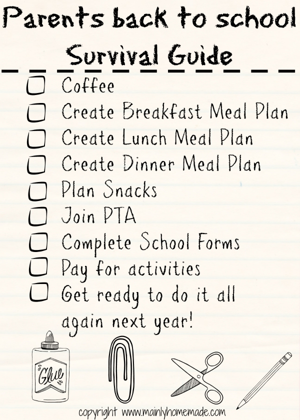 Back to School Survival Guide for Parents Checklist 1