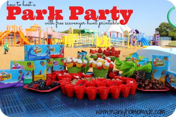 Best Outdoor Party Ideas and Park Scavenger Hunt to Get Kids Active