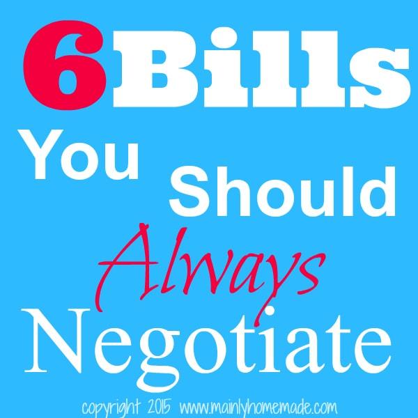6 Bills you should always negotiate