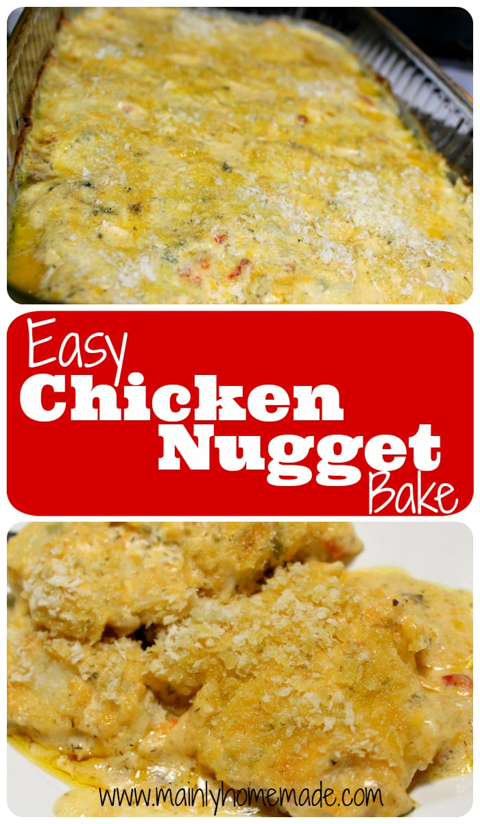 Easy Pimento Cheese Recipes - Chicken Nugget Bake