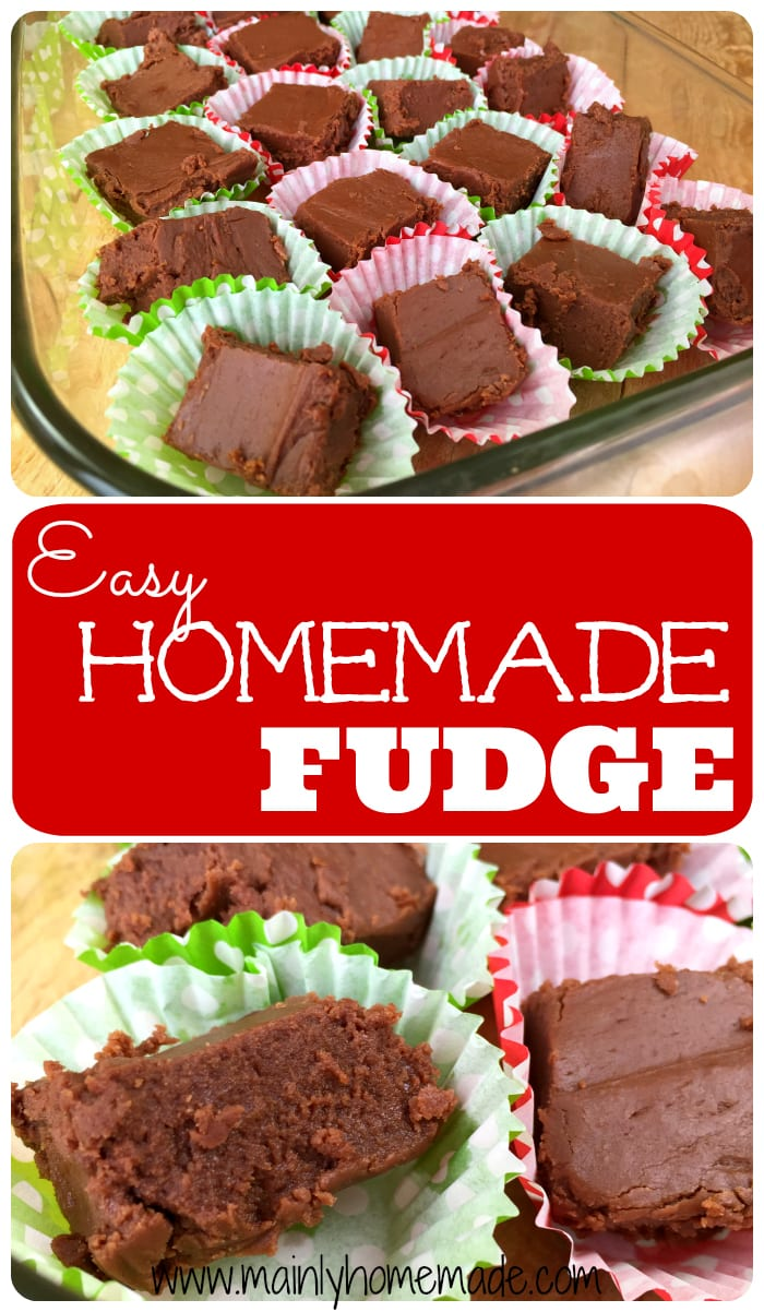 The Best Easy Homemade Fudge Recipe made in just minutes