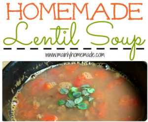 Simple Homemade Lentil Soup Recipe