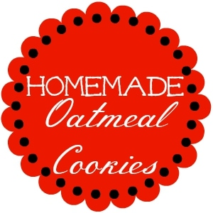 Homemade Oatmeal Cookie Mix Round printable