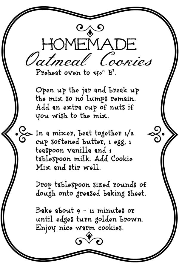 Homemade Oatmeal Cookies Mix Recipe