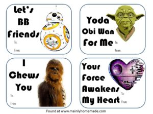 Easy Star Wars Valentines Day Cards (FREE Printable)
