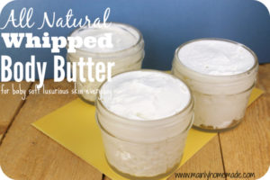 Homemade Whipped Body Butter for Soft Skin
