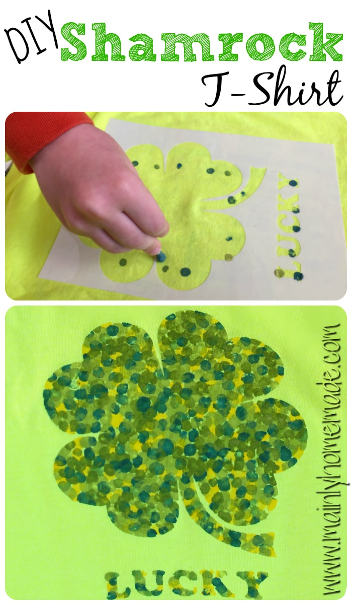 DIY shamrock t-shirt