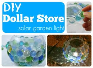 DIY Homemade Dollar Store Solar Garden Globe Light