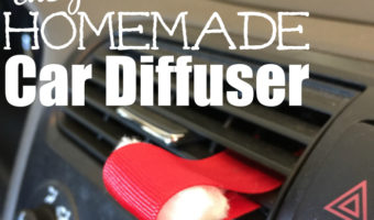 Easy Homemade Car Diffuser for Essential Oils