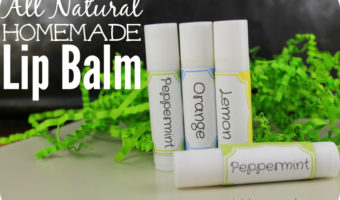 All Natural Homemade Lip Balm for Dry Lips