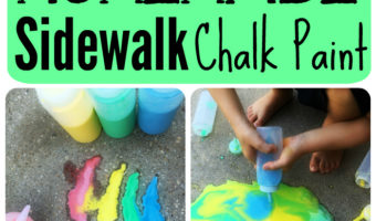 Easy Fizzy Homemade Sidewalk Chalk Paint