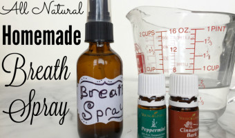 All Natural Homemade Breath Spray