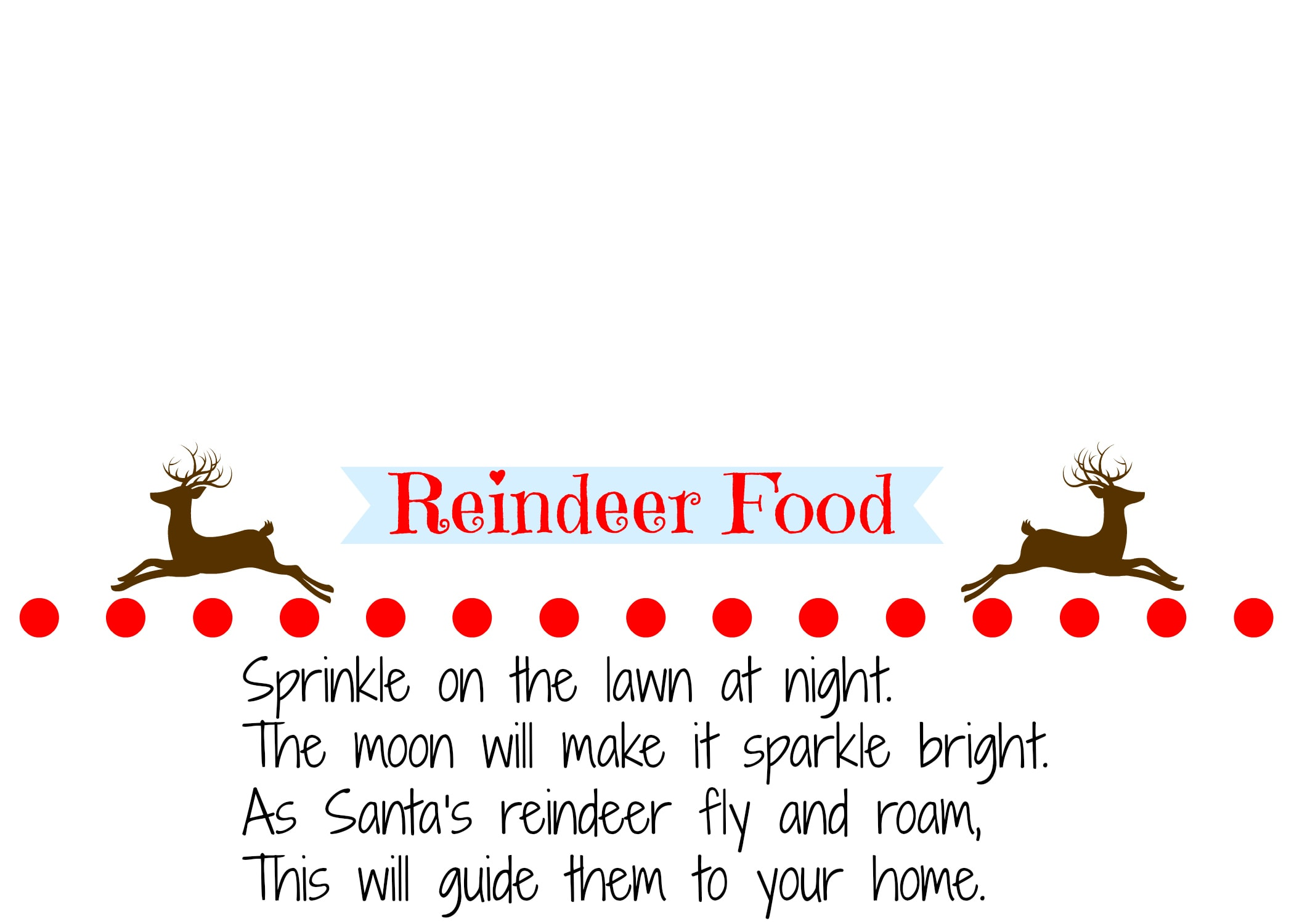 It's just a picture of Challenger Reindeer Food Printable