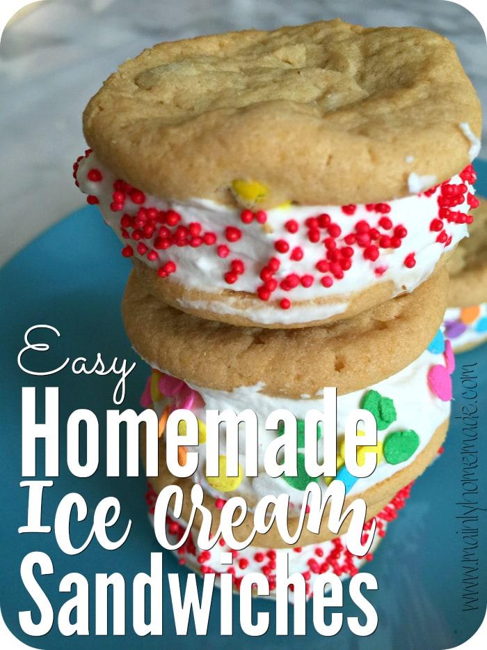Easy Homemade Ice Cream Sandwiches