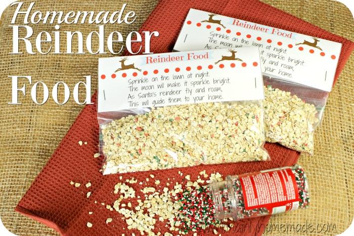 Homemade Reindeer Food Packs