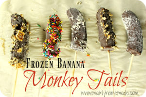 Frozen Banana Monkey Tail Treats