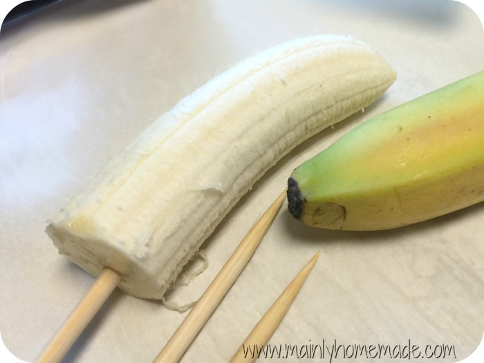 Skewer Banana monkey tail