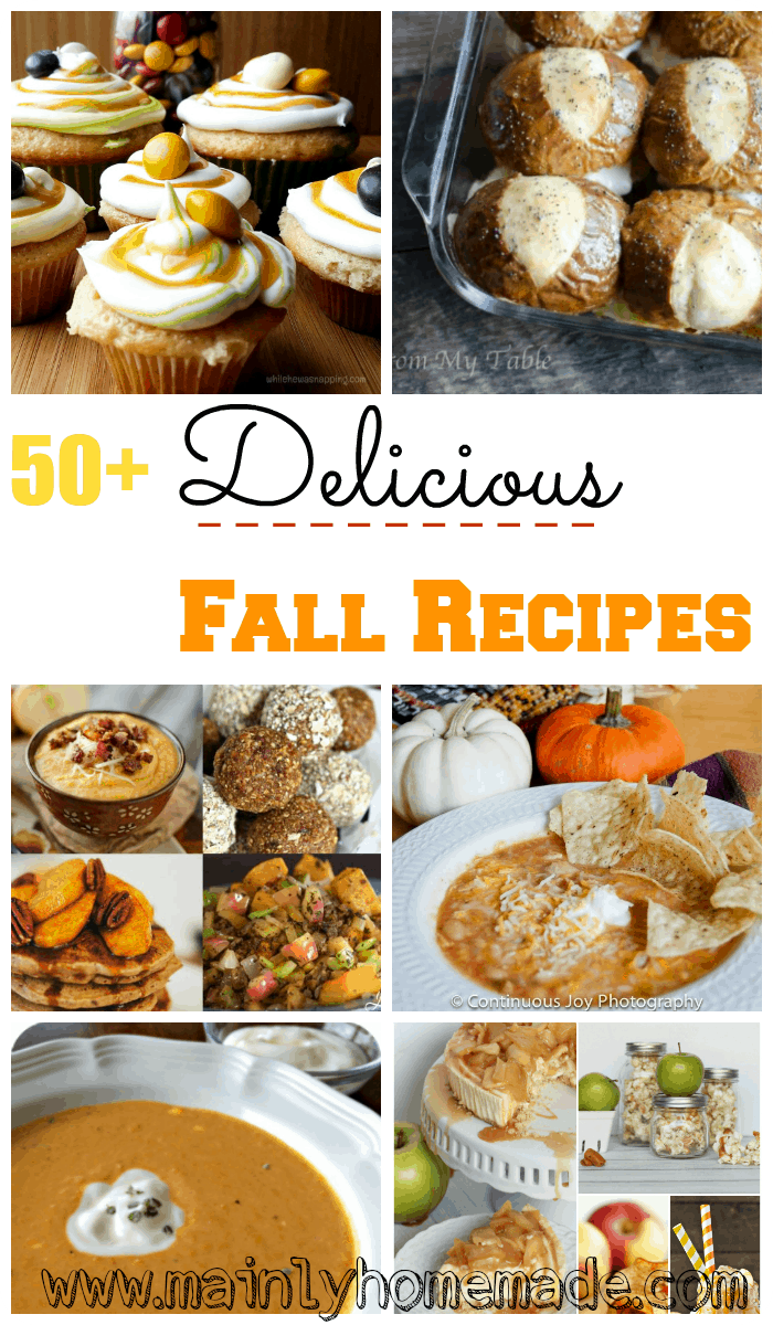 Try these delicious fall recipes featured in the weekly linkup The Mommy Club where you can share the best of your blog and what you've been up to!