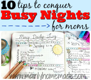 10 Tips to Conquer Busy Nights for Moms