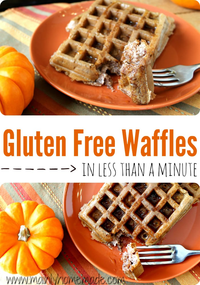 Easy gluten free waffle recipe in less than a minute