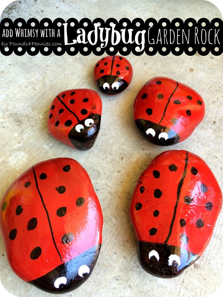 painted ladybug rocks clever craft ideas for the club mainly 2597
