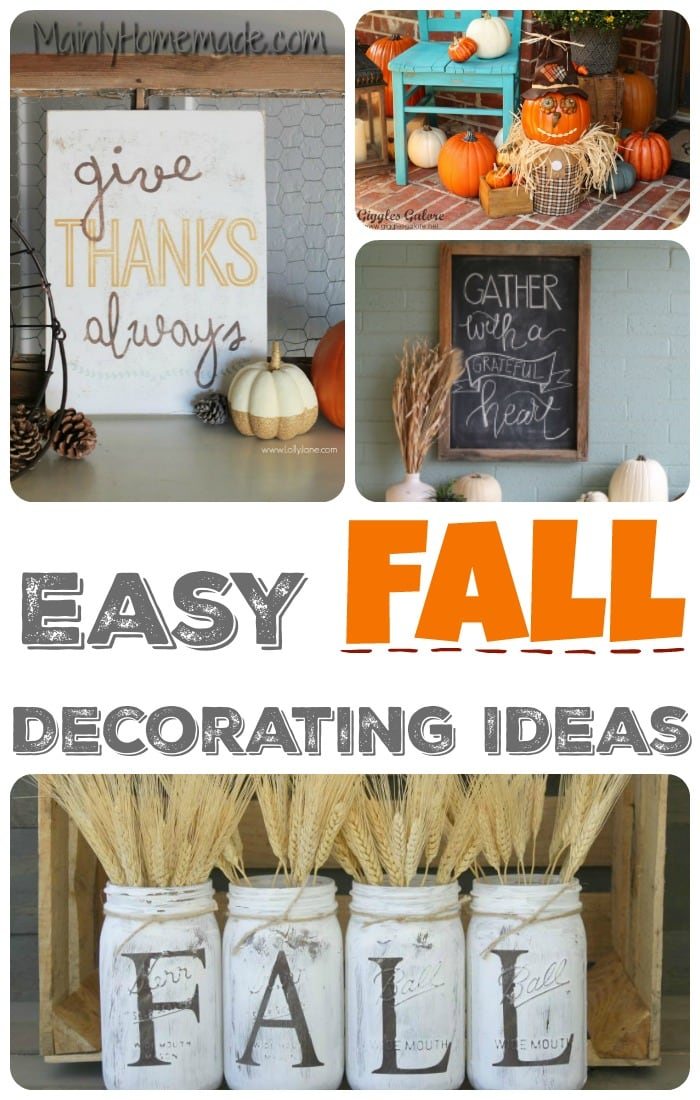 Simple Fall Wreath: Simple Fall Decorating Ideas - The Mommy Club
