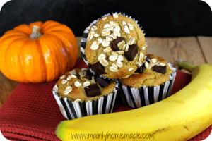 Gluten Free Chocolate Chip Pumpkin Blender Muffins Recipe