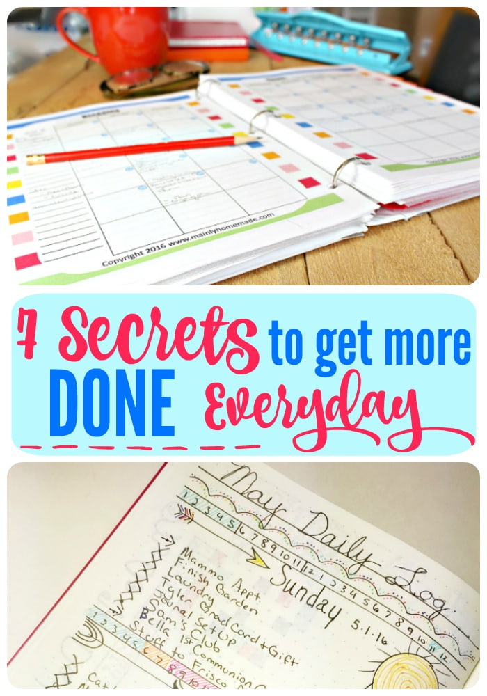 7 secrets on how to get more done in one day