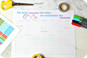 Tips to Organize Your Week and a Weekly Planner Printable