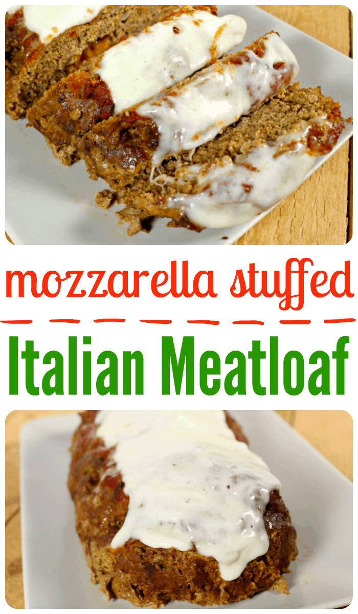 mozzarella stuffed italian meatloaf