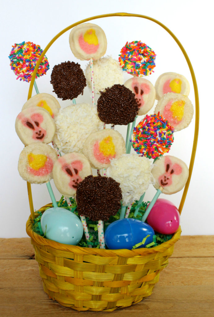 Bunny and chick cookie Easter Basket