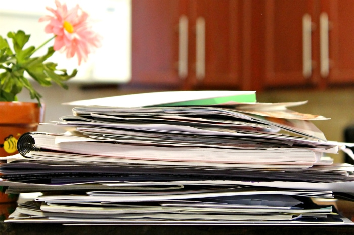 Paper clutter solutions paper pile