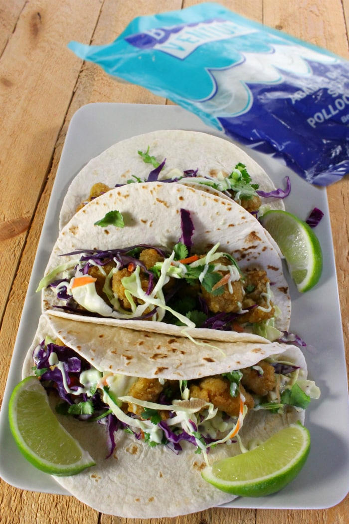 The best fish tacos recipe with wasabi garlic lime sauce for Sides for fish tacos